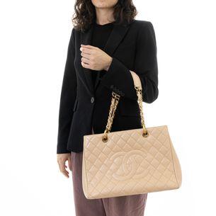 Bolsa-Chanel-Shopper-Couro-Creme